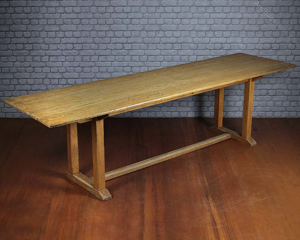 10 Seater Oak Refectory Dining Table C 1910 Antiques Atlas
