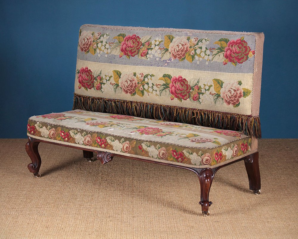 19th C Rosewood Settee Or Window Seat Antiques Atlas