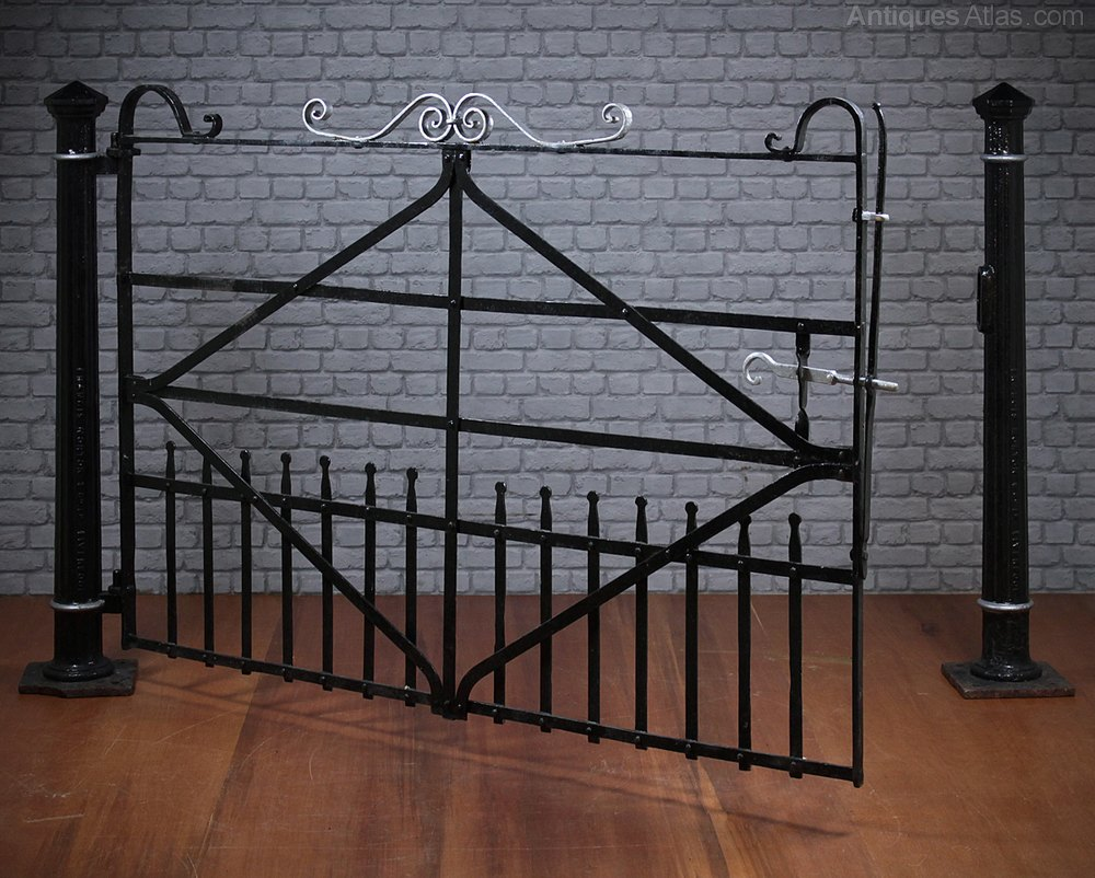 Antiques Atlas 19th C Wrought Iron Field Gate Amp Posts C