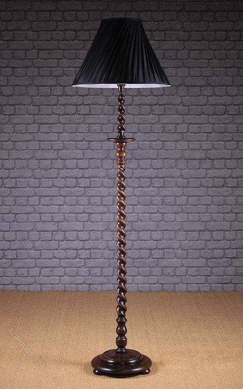 Antiques Atlas 20th C Carved Oak Standard Lamp C 1920