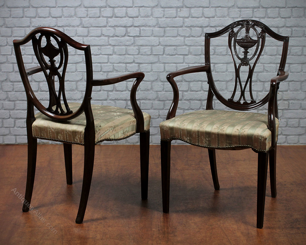 8 Sheraton Style Dining Chairs. C.1910. - Antiques Atlas