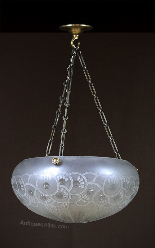 antiques atlas art deco glass hanging light. Black Bedroom Furniture Sets. Home Design Ideas
