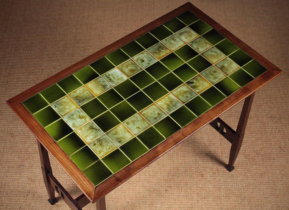 Arts Amp Crafts Tile Top Table C 1905 Antiques Atlas