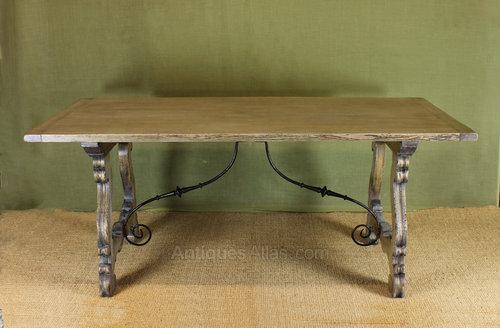 Bleached Oak Dining Table. Antique Farmhouse Tables refectory farmhouse