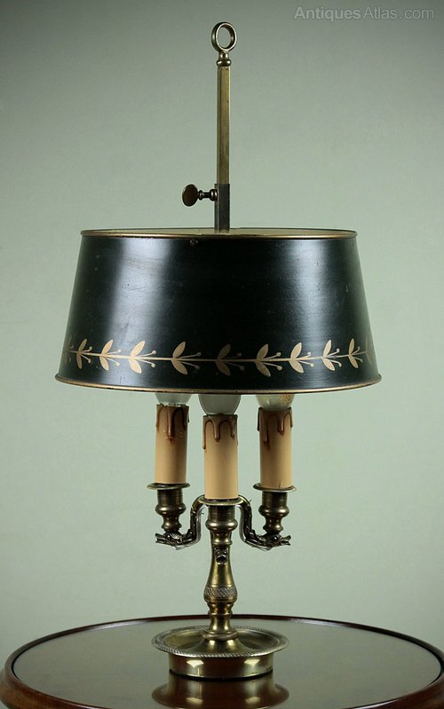 Antiques Atlas Brass Student Lamp With Adjustable