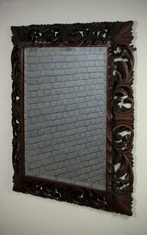 Antiques atlas carolean style wall mirror for Antique style wall mirror