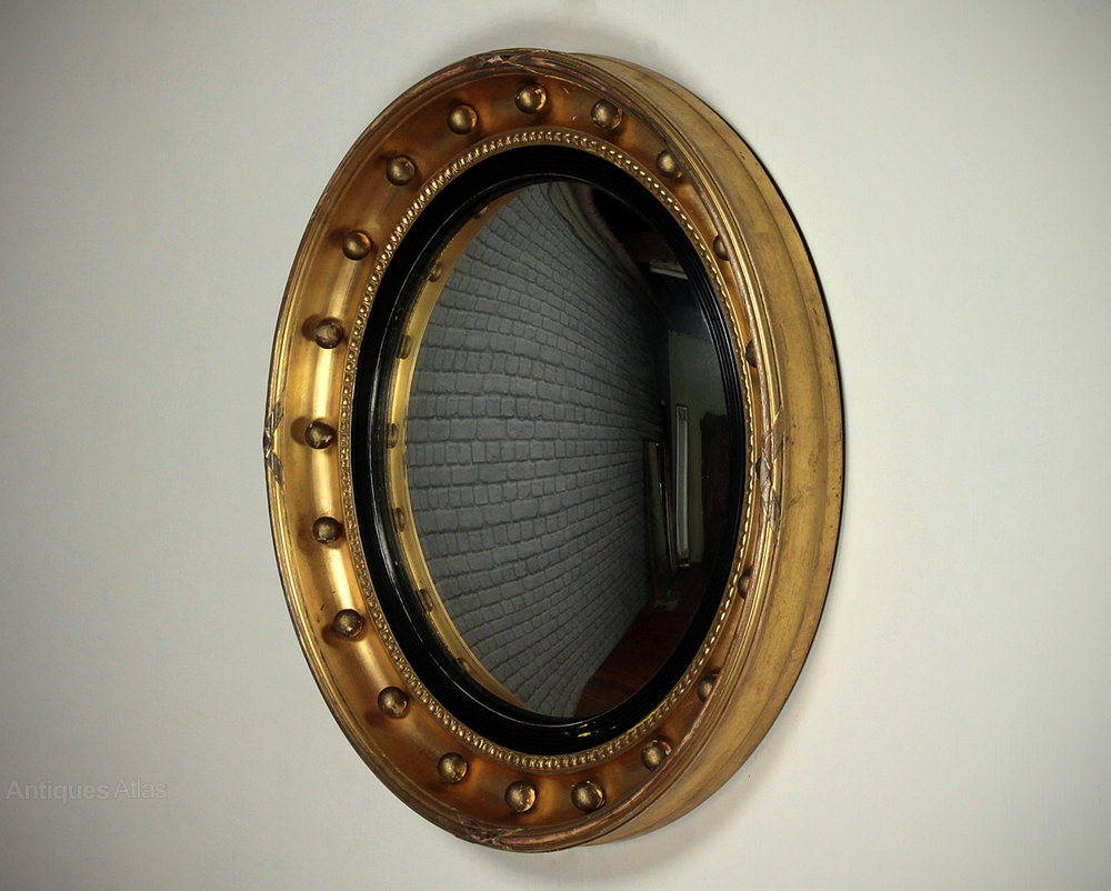 Antiques atlas convex gilt framed mirror for Convex mirror