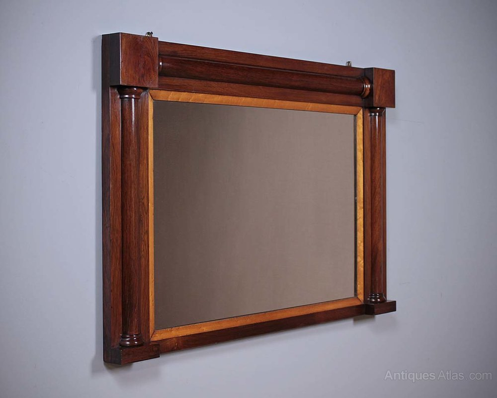 Antiques atlas early 19th c rosewood overmantle mirror for Overmantle mirror