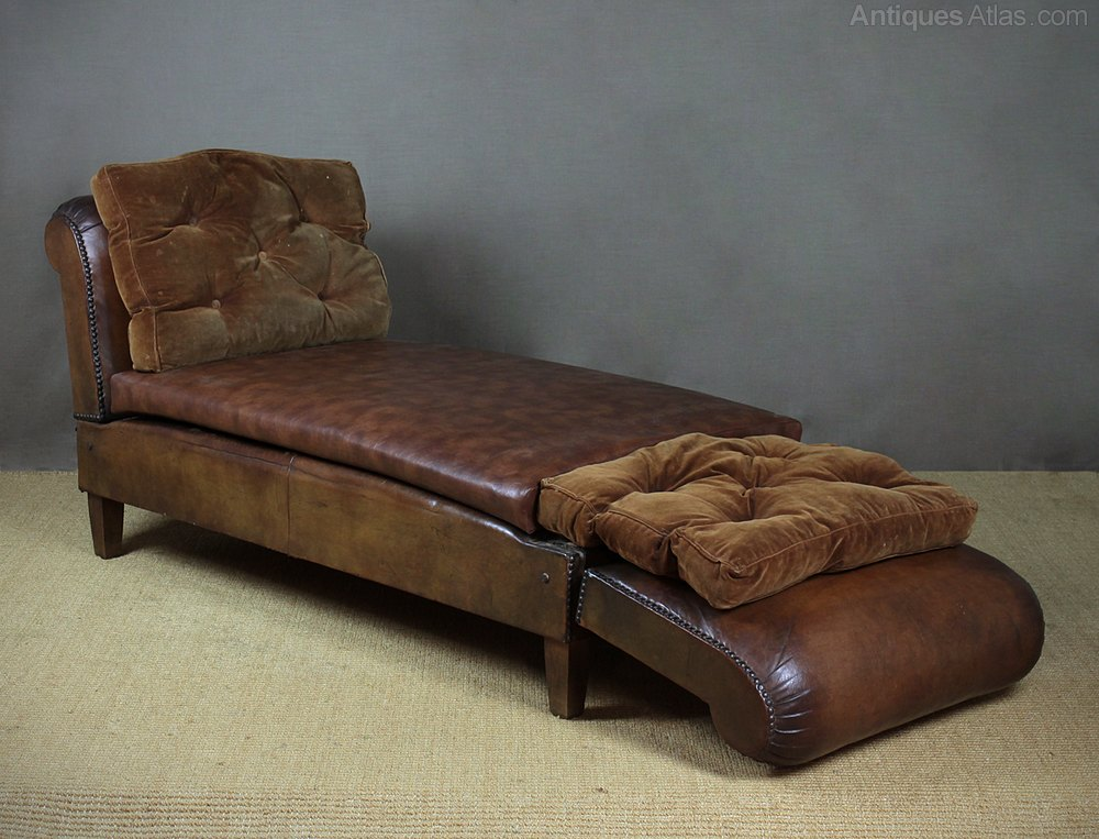 Early 20th c double ended daybed antiques atlas for Backless double ended chaise longue