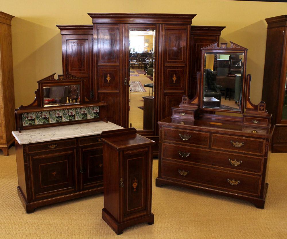 edwardian mahogany bedroom suite antiques atlas. Black Bedroom Furniture Sets. Home Design Ideas