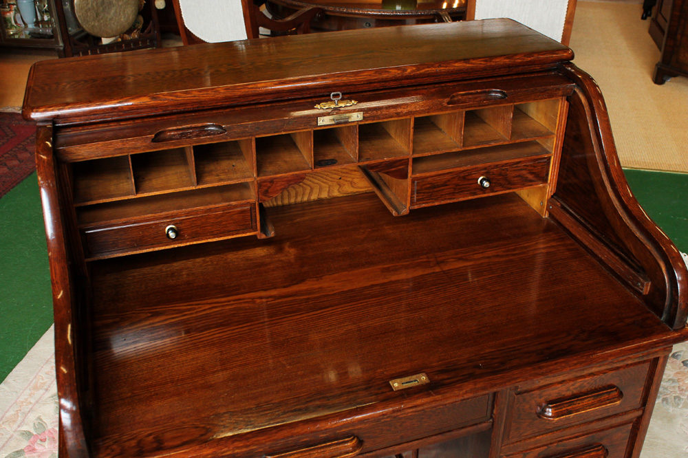 Edwardian Oak Roll Top Desk Antiques Atlas