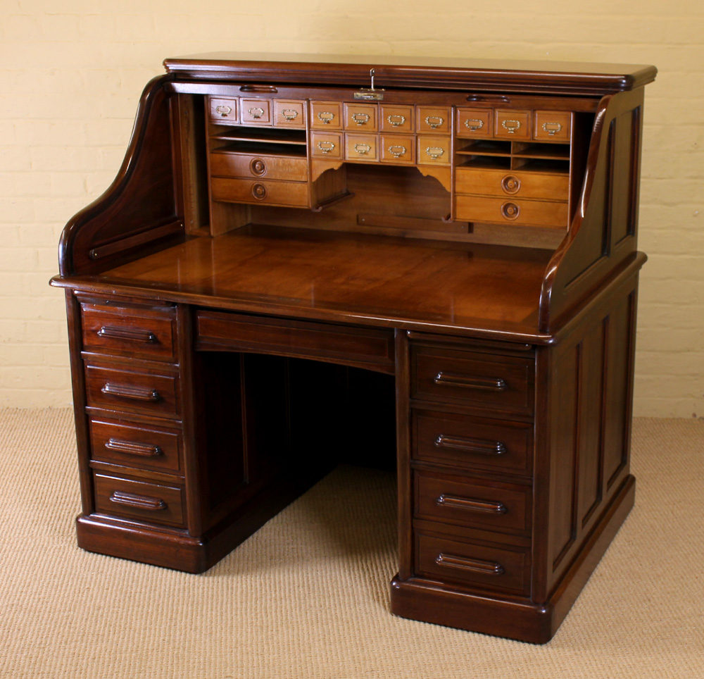 Edwardian Roll Top Desk C 1910 Antiques Atlas