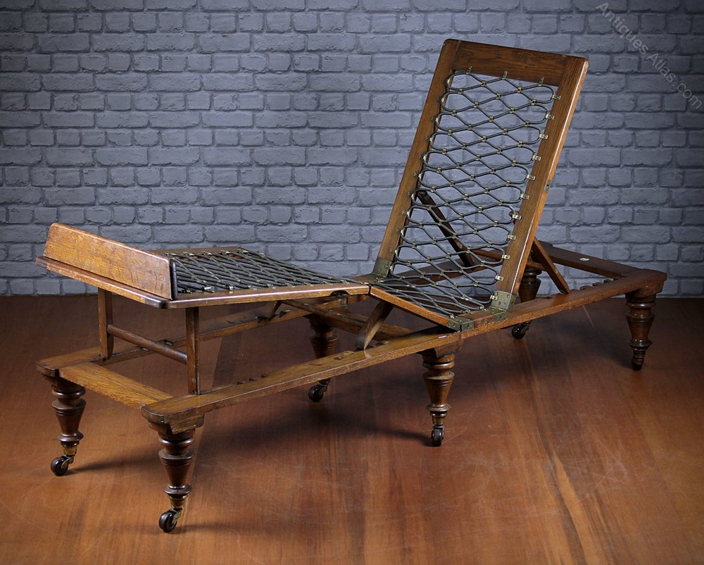 Folding Oak Campaign Day Bed By Roninsons Of Ilkle