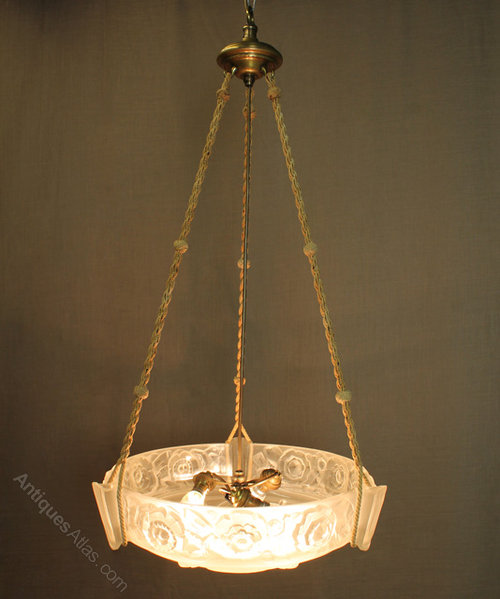 antiques atlas french art deco hanging light. Black Bedroom Furniture Sets. Home Design Ideas