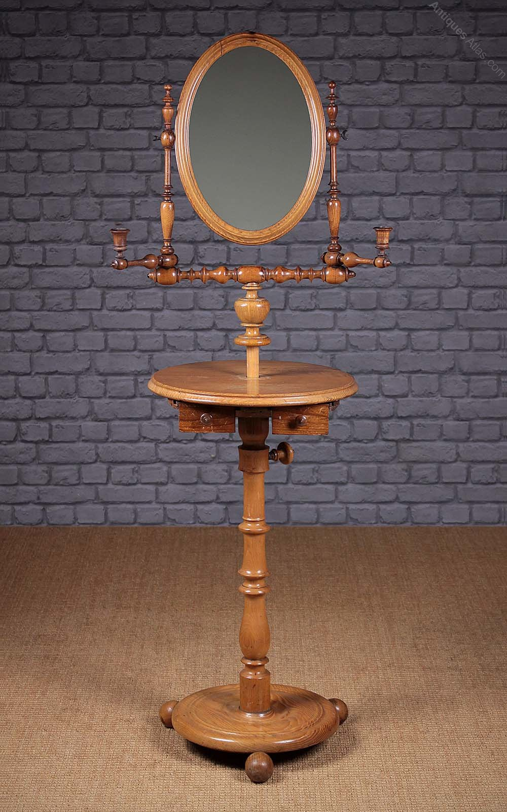 Gentleman S Shaving Mirror On Stand C 1880 Antiques Atlas