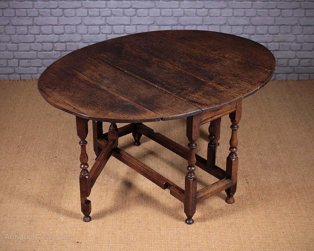 Georgian Oak Gateleg Table Antiques Atlas