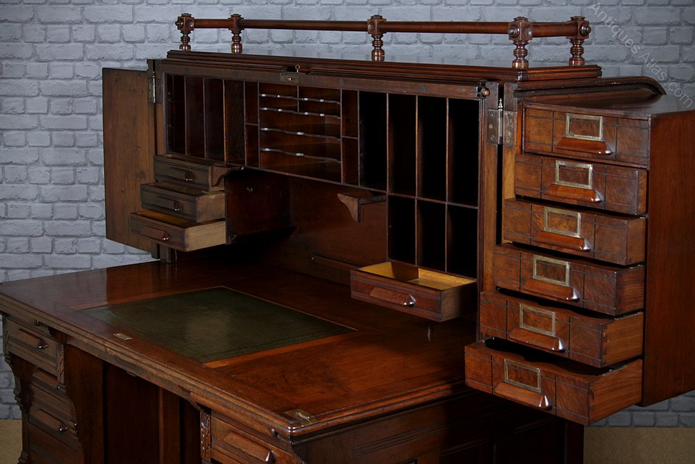 Indianapolis Cabinet Company Roll Top Desk C 1890