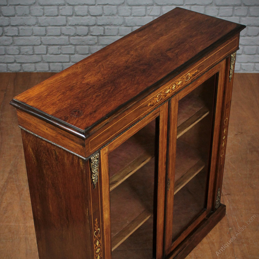Inlaid rosewood side cabinet antiques atlas for 1880 kitchen cabinets