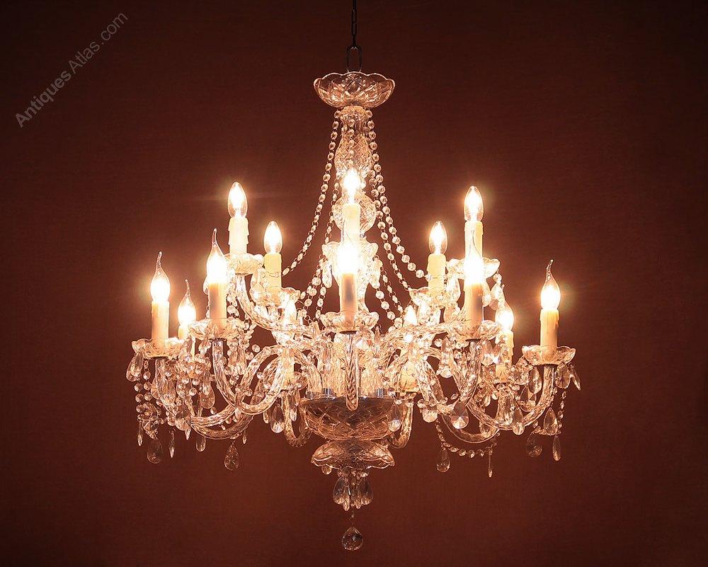 antiques atlas large 14 branch chandelier. Black Bedroom Furniture Sets. Home Design Ideas