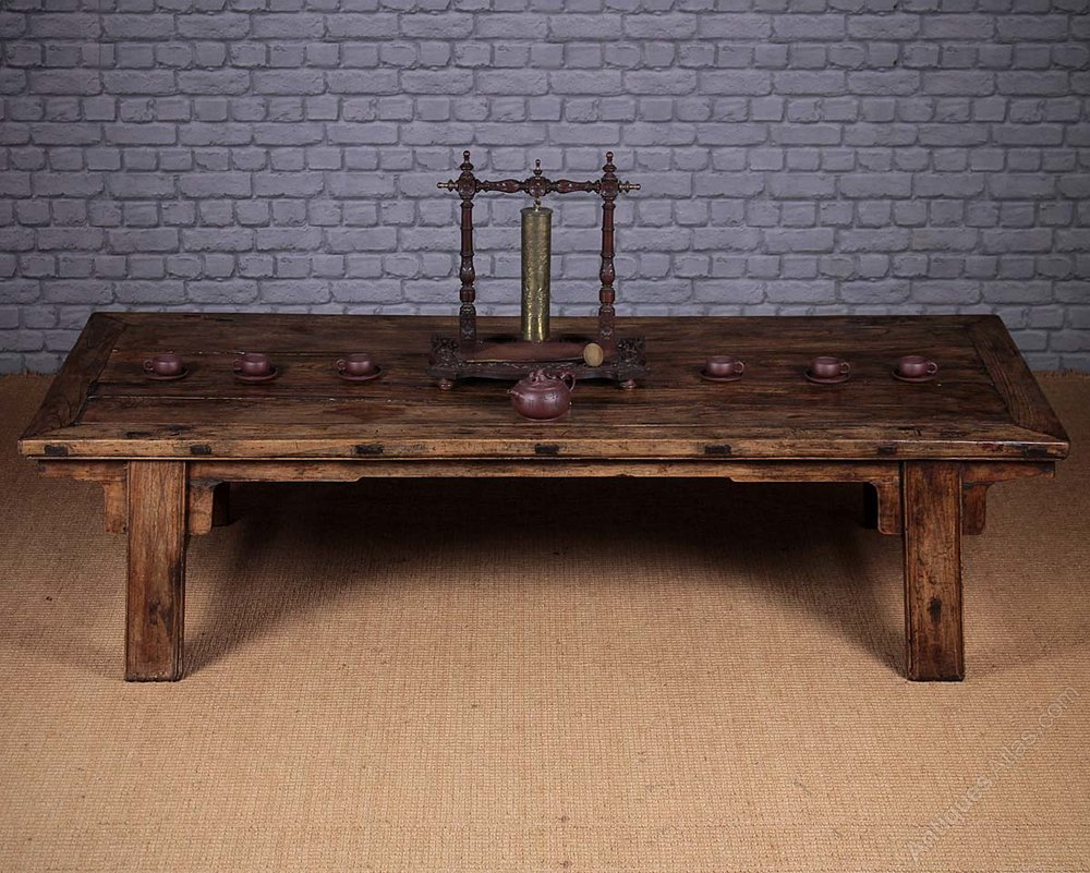 Large Antique Chinese Elm Coffee Table Antiques Atlas
