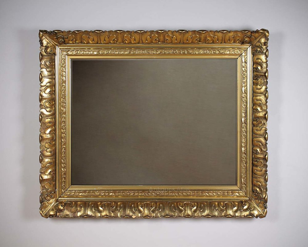 Antiques atlas large gilt frame mirror for Tall framed mirror