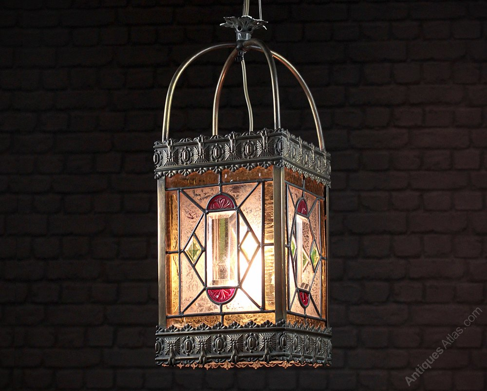 Antiques Atlas Large Hanging Porch Light Shade C 1880