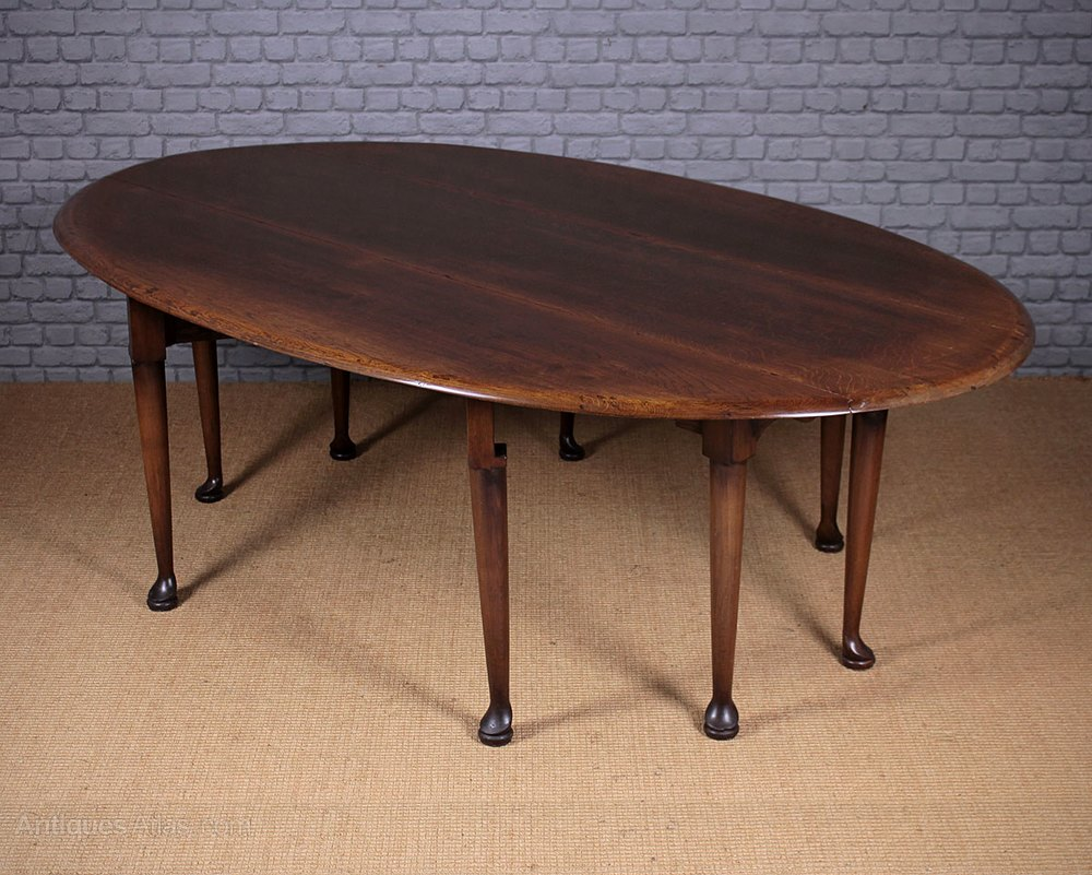 Antiques atlas large oak drop leaf dining table for Drop leaf dining table