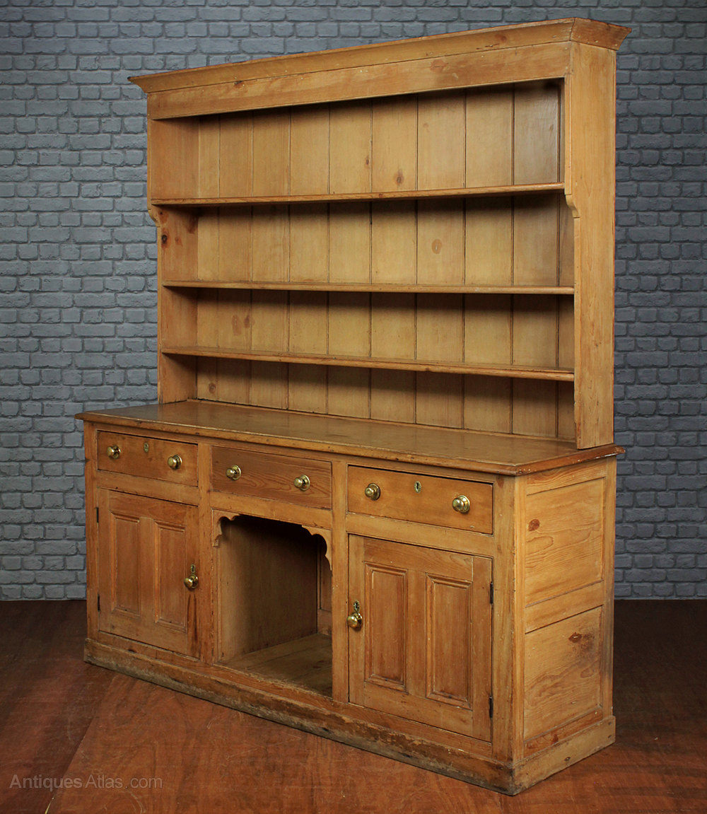 Large Pine Kitchen Dresser C.1860.