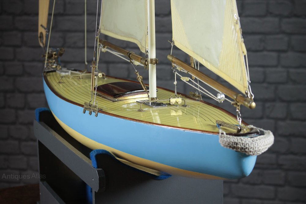 Antiques Atlas Large Racing Pond Yacht C 1958