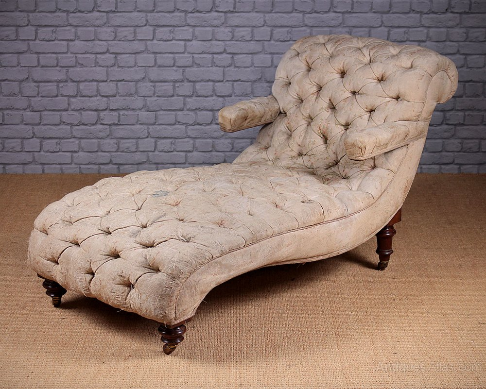 Late 19th c chaise longue antiques atlas for Antique chaise longue for sale uk