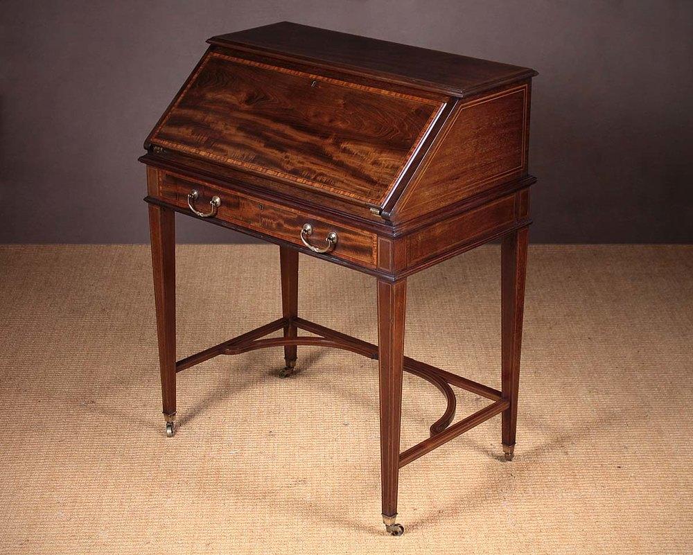 Mahogany bureau writing desk by maple co antiques atlas for Bureau writing desk