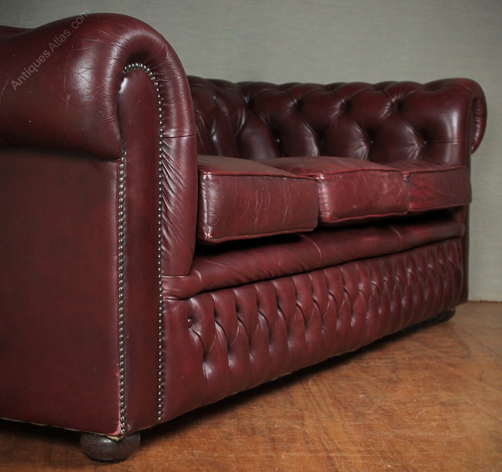 Antiques Atlas Mid 20th C Buttoned Leather Chesterfield Sofa