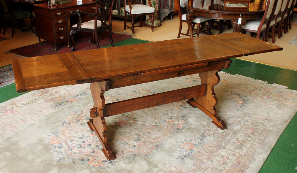 Oak Drawer Leaf Dining Table Antiques Atlas