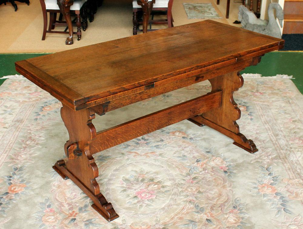 Oak Drawer Leaf Dining Table Antiques Atlas