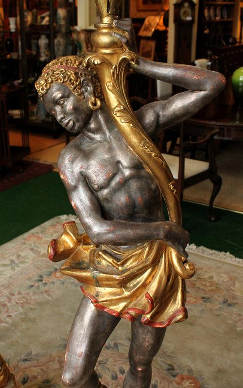 Antiques Atlas Pair Blackamoor Figure Lights