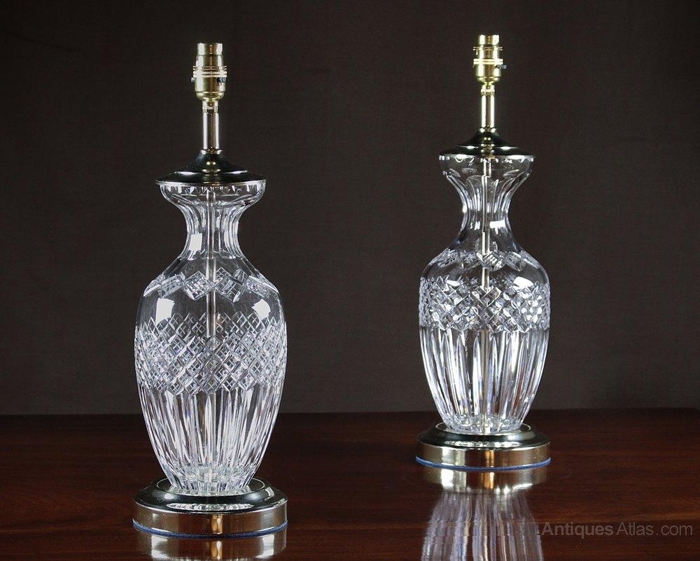 Antiques Atlas Pair Cut Glass Table Lamps