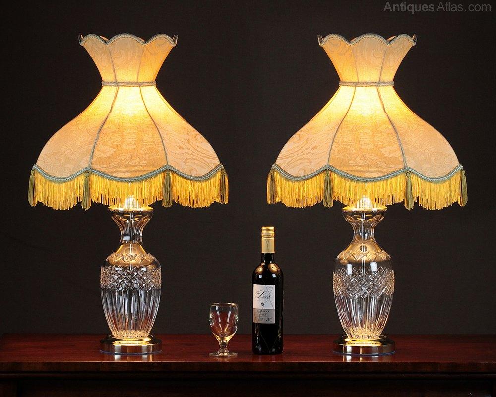 Antiques Atlas - Pair Cut Glass Table Lamps.:Pair Cut Glass Table Lamps.,Lighting