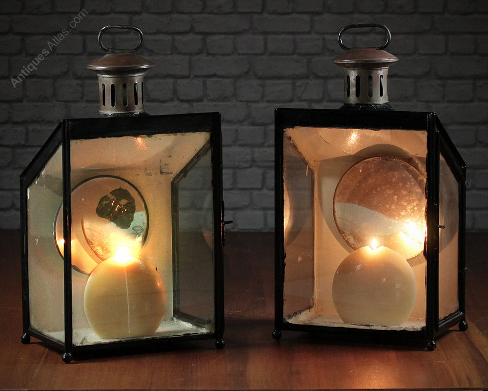 Antiques Atlas Pair Large Garden Lanterns C1890