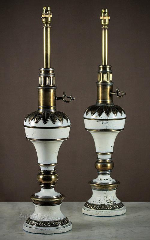 Antiques Atlas Pair Vintage Table Lamps C 1950