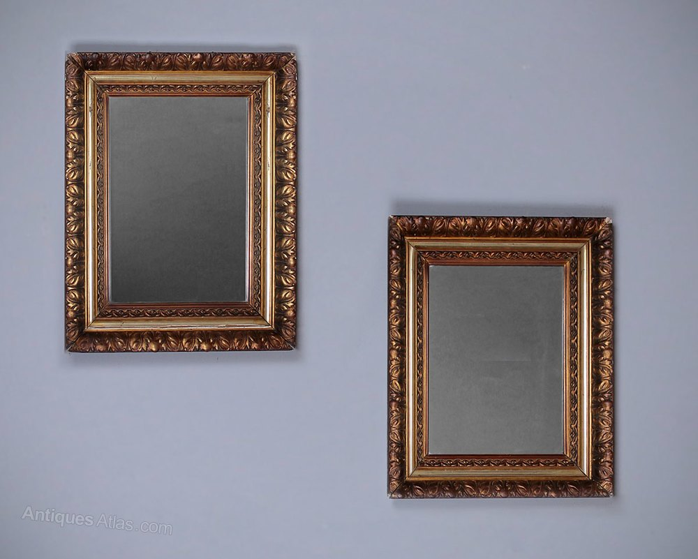 Antiques Atlas Pair Of Small Gilt Frame Wall Mirrors C 1890