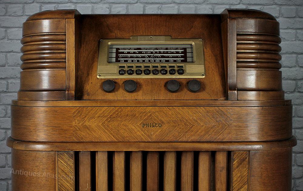 Antiques Atlas Philco 40 180 Art Deco Valve Radio C 1939