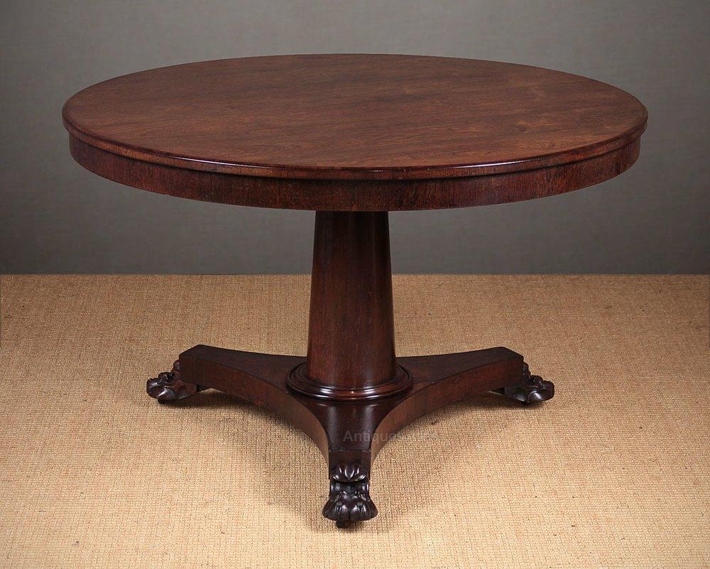 Regency Rosewood Breakfast Dining Table C1830 Antiques  : RegencyRosewoodBreakfastDinac049a4143z 1 from www.antiques-atlas.com size 1000 x 801 jpeg 161kB