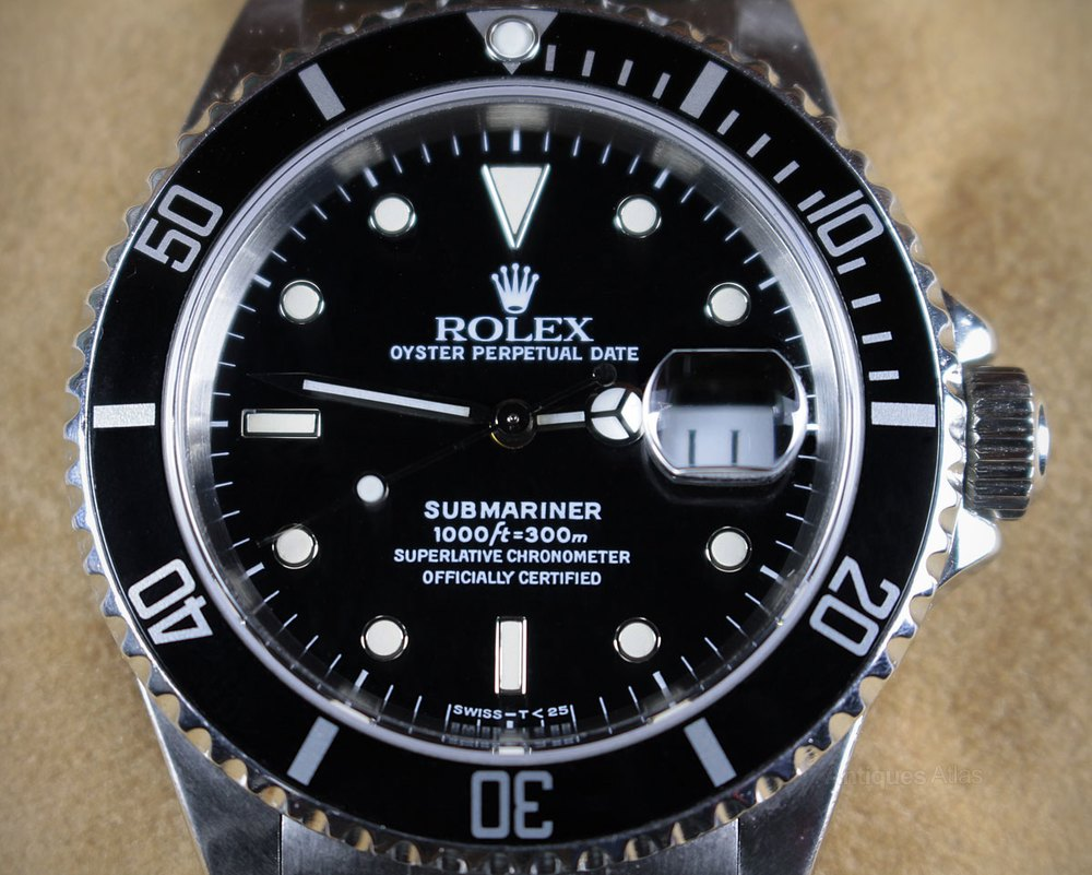 antiques atlas rolex submariner chronometer wrist watch. Black Bedroom Furniture Sets. Home Design Ideas