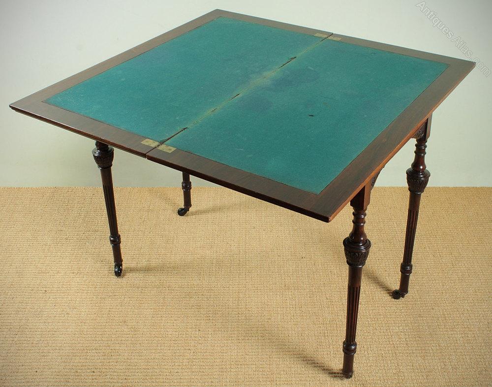 Rosewood fold over bridge table antiques atlas for Table bridge