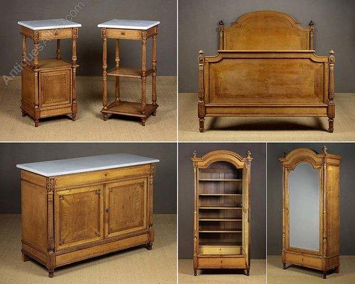 antiques atlas non uk callers 44 1492 580022 satin birch bedroom suite