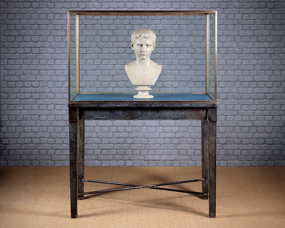 Exhibition Stand Vintage : Shop or museum display cabinet on stand c antiques