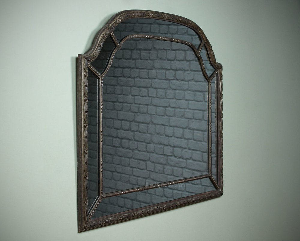 Antiques atlas silver gilt overmantle mirror for Overmantle mirror