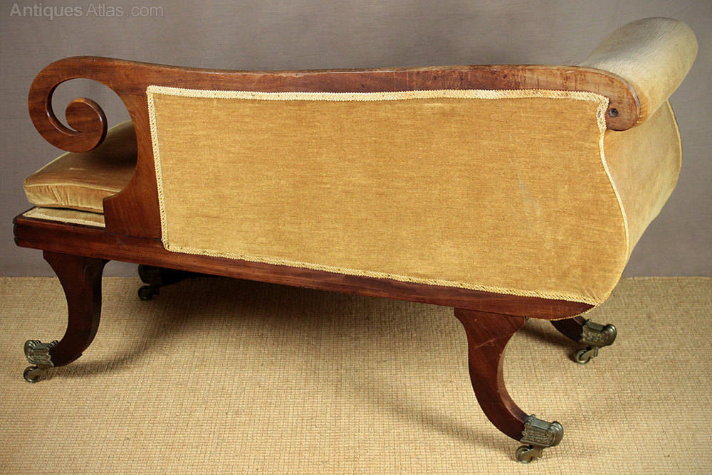 small regency chaise longue antiques atlas