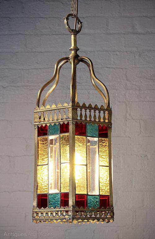 Antiques Atlas Victorian Coloured Glass Porch Light