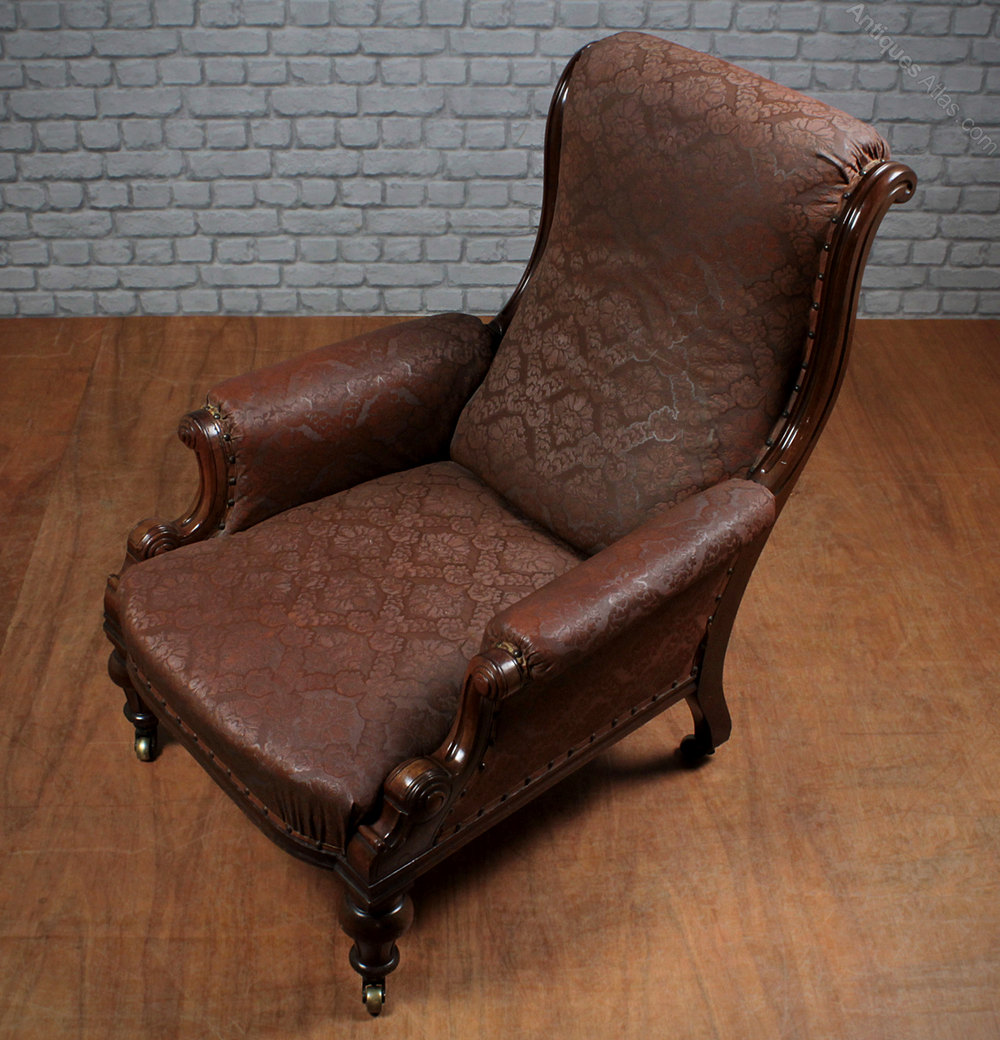 Antique easy chair - Antique Armchairs Armchair Mahogany
